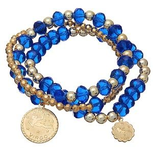 New Zodiac Virgo Double Strand Bracelet Set